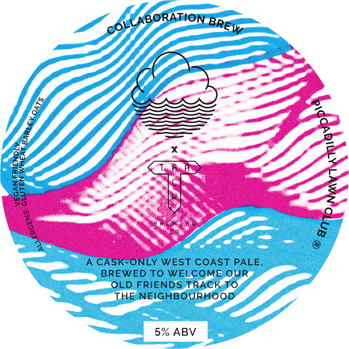 ON TAP | Cloudwater X Track | Piccadilly Lawn Club | Cask West Coast Pale 5% 1 Litre