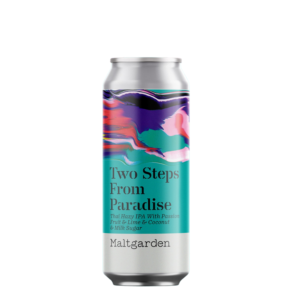 Maltgarden   Two Steps To Paradise   Thai Hazy IPA With Passion Fruit, Lime & Coconut 5.7% 550ml