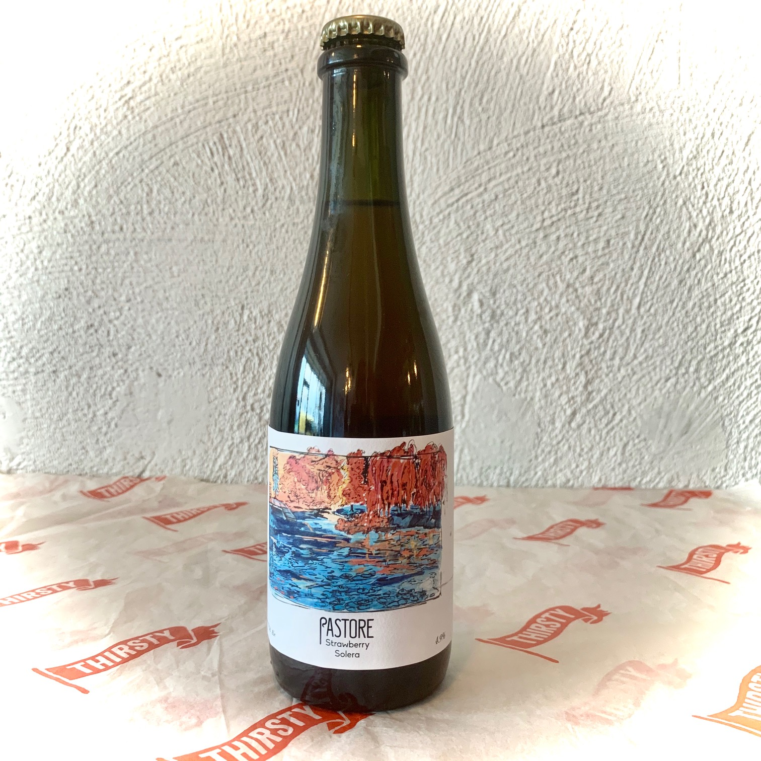 Pastore | Strawberry Solera | Wild Ale with Suffolk Strawberries 4.9% 375ml