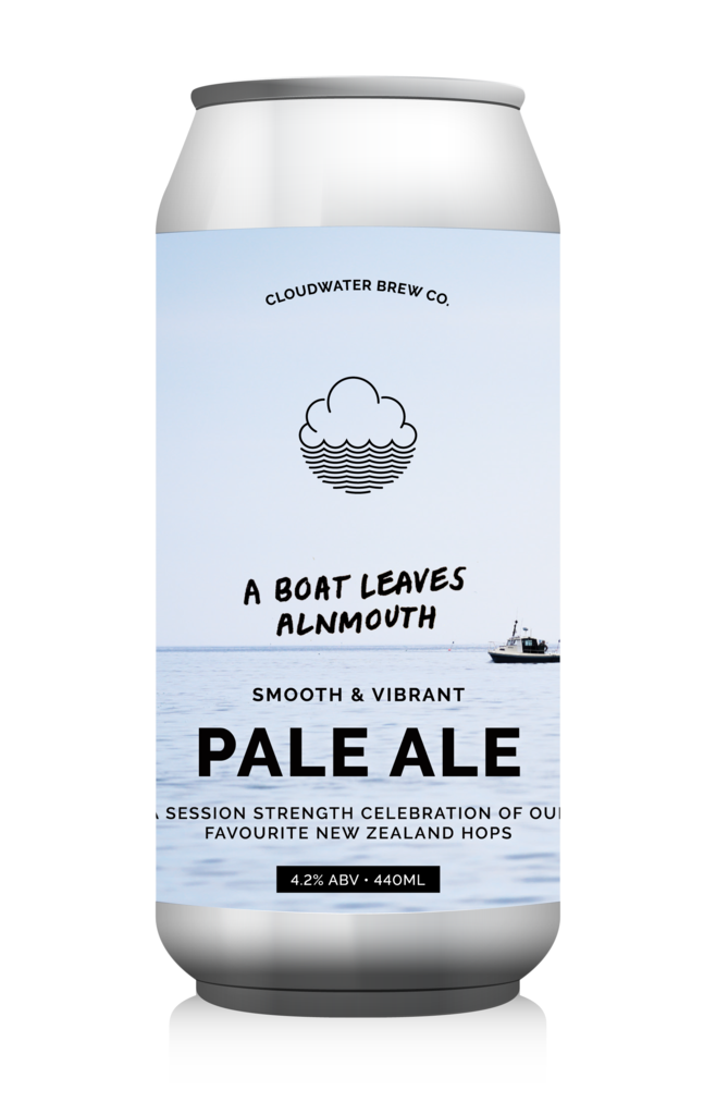 Cloudwater | A Boat Leaves Alnmouth | NZ Session Pale 4.2% 440ml