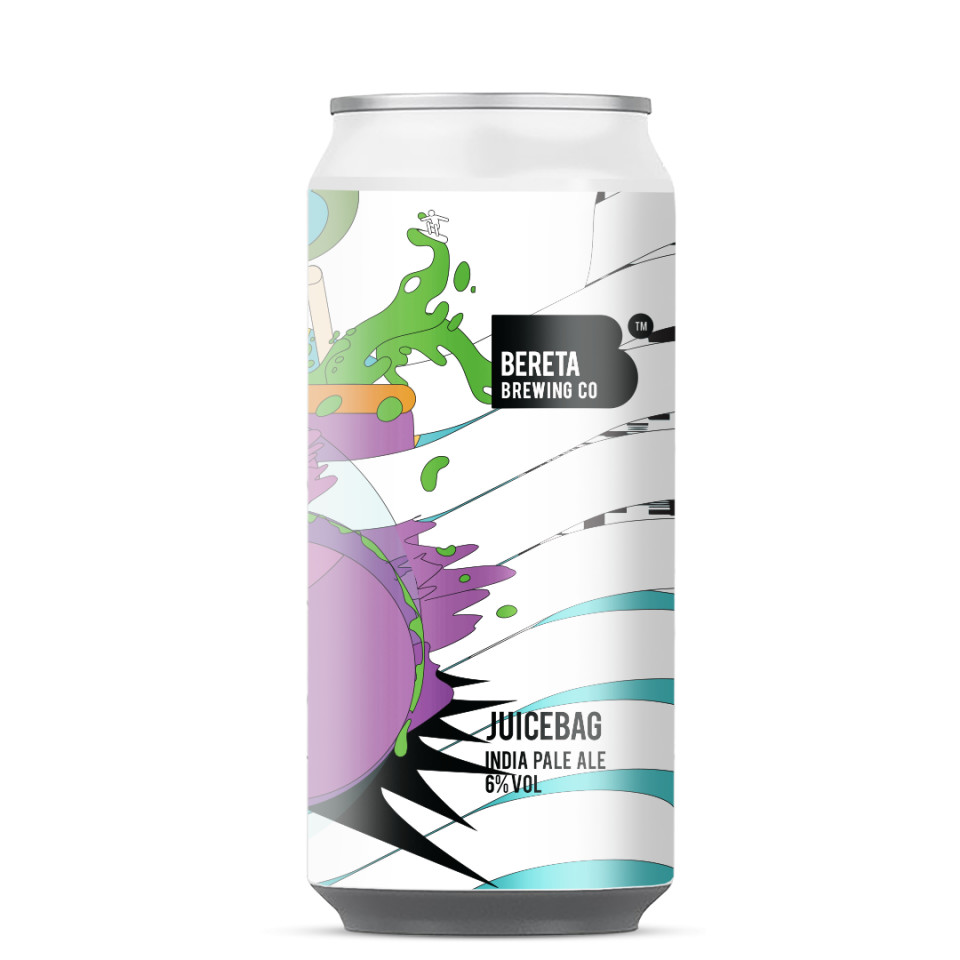 Bereta Brewing Co.   Juicebag   Citra, Mosiac & Strata IPA 6% 440ml