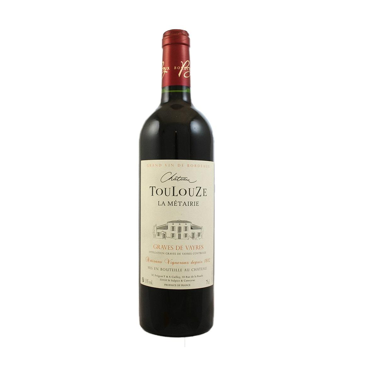 Toulouze Metairie Graves de Vayre Cab Franc Bordeaux