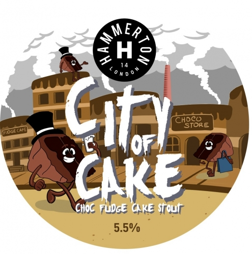 ON TAP Hammerton | City Of Cake | Choc Fudge Cake Stout 5.5% x 1 LITRE