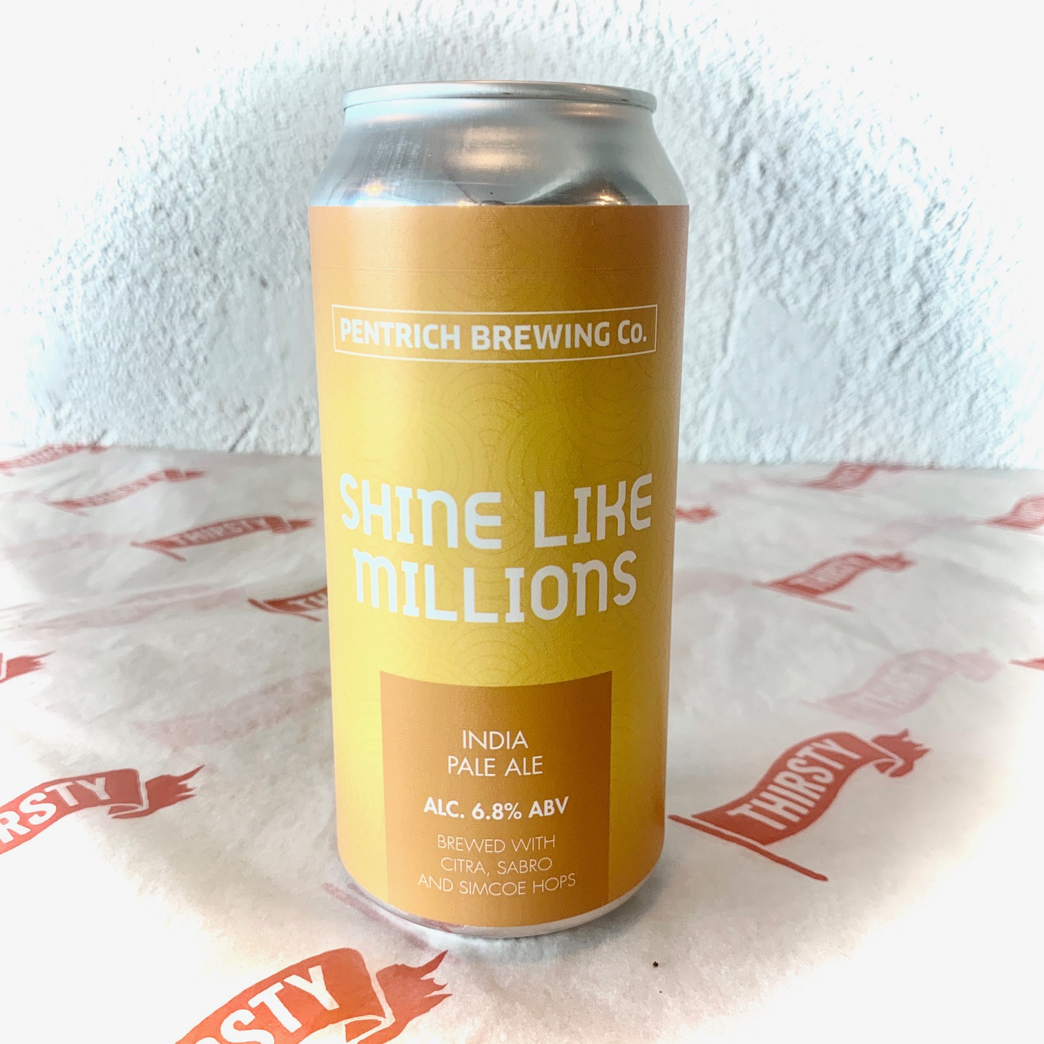 Pentrich | Shine Like Millions | Pale Ale brewed with Chinook, Centennial, Columbus & Simcoe 6.8% 440ml