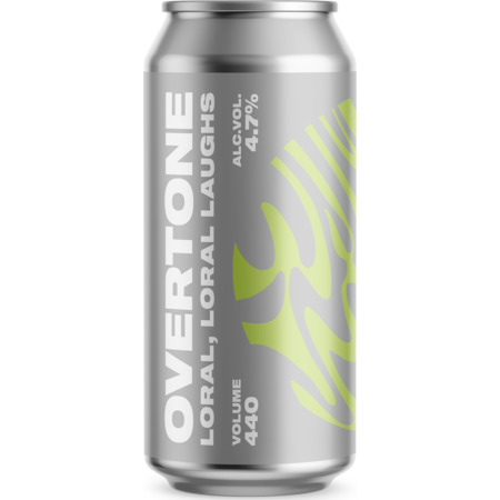 Overtone Brewing Co. | Loral, Loral Laughs | Loral, Idaho 7 and Simcoe Session IPA 4.7% 440ml