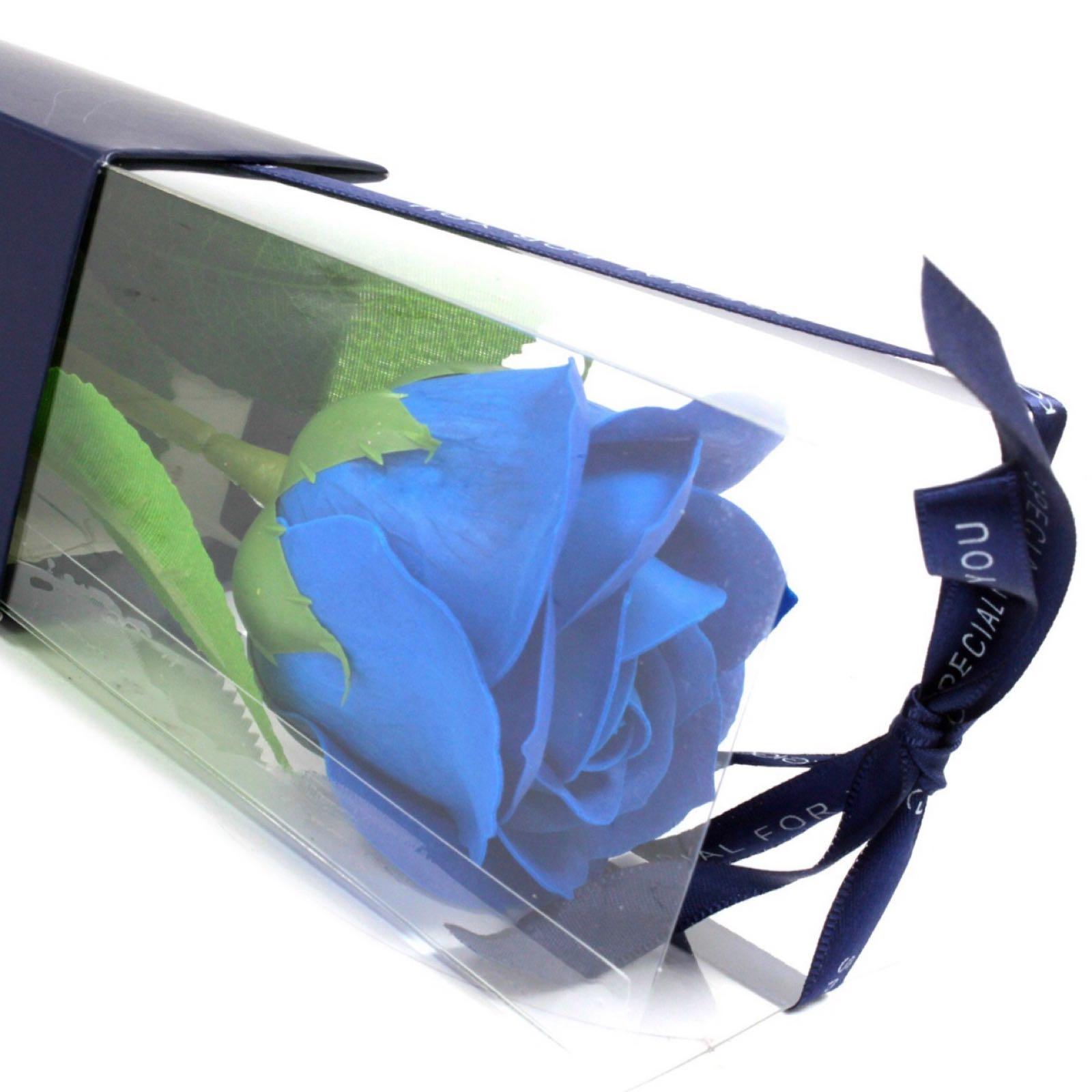 Soap Flower Single - Blue Rose (Was £3.00)