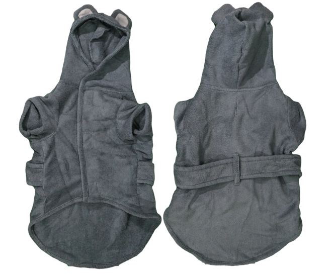 Charcoal Bear Bath Robe