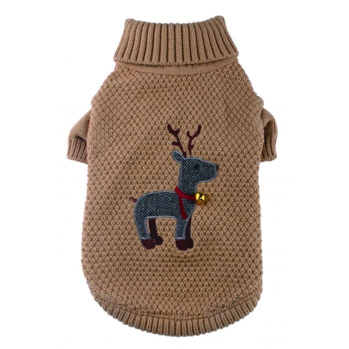 Tweed Reindeer Christmas jumper