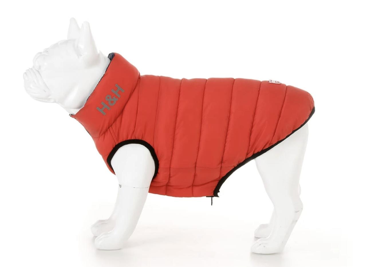 Red & Navy Puffa Jacket