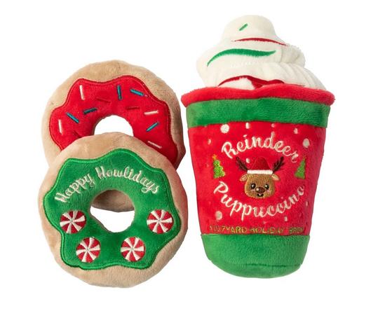 Christmas reindeer puppucino & donuts set