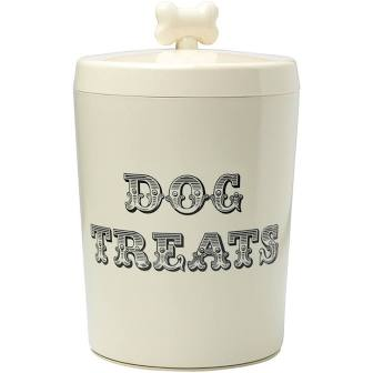 Cream dog treats jar