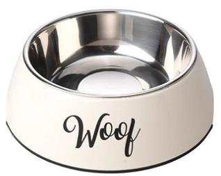 Cream Woof Bowl
