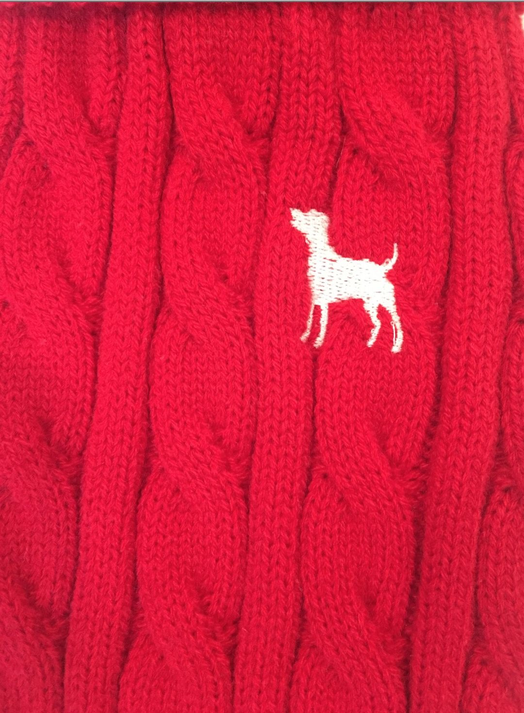 Jolly Red Cable Knit jumper