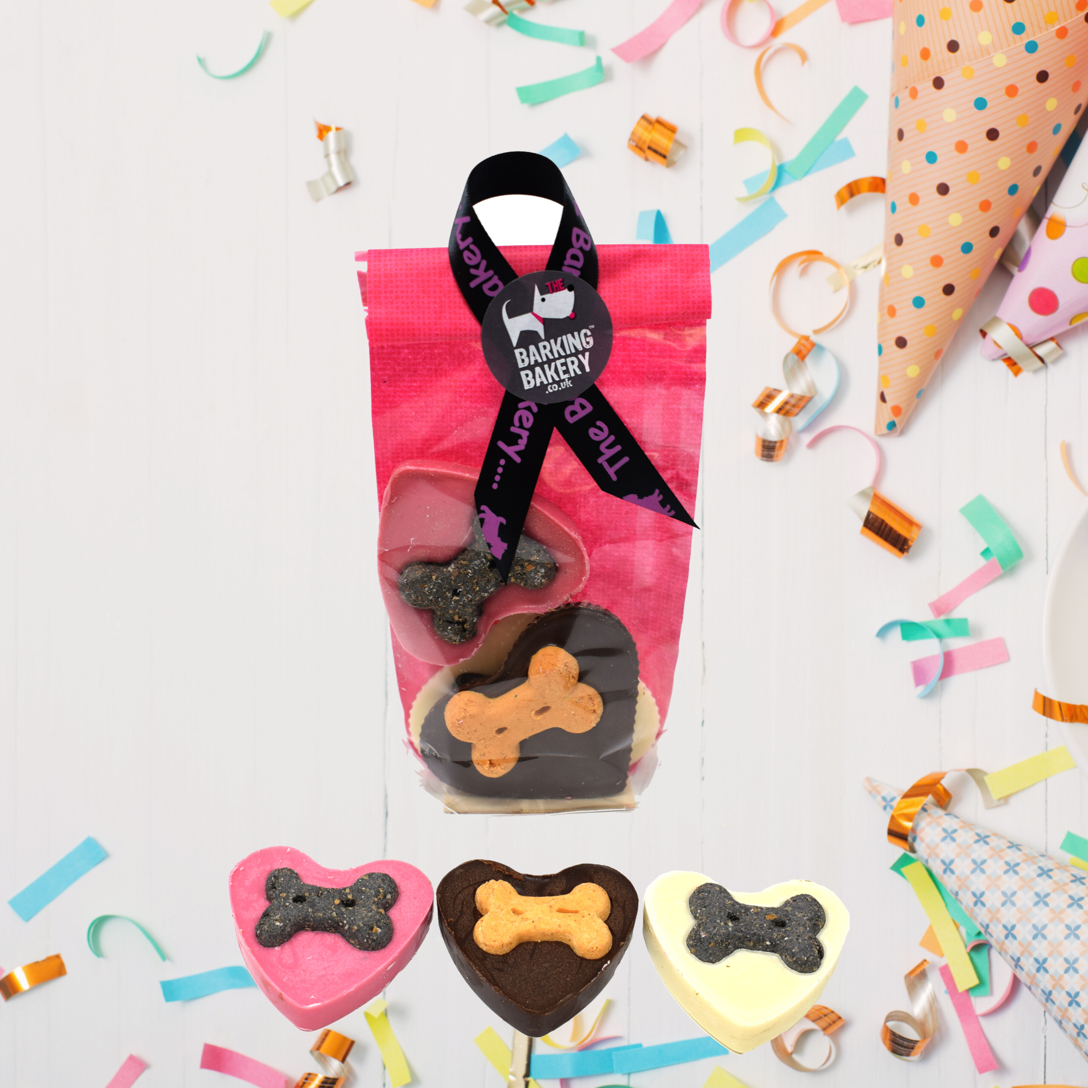 Chocolate hearts pawty bag