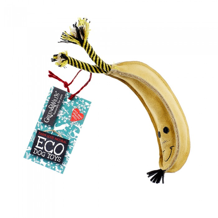 Tough Eco dog toy Barry the Bananab