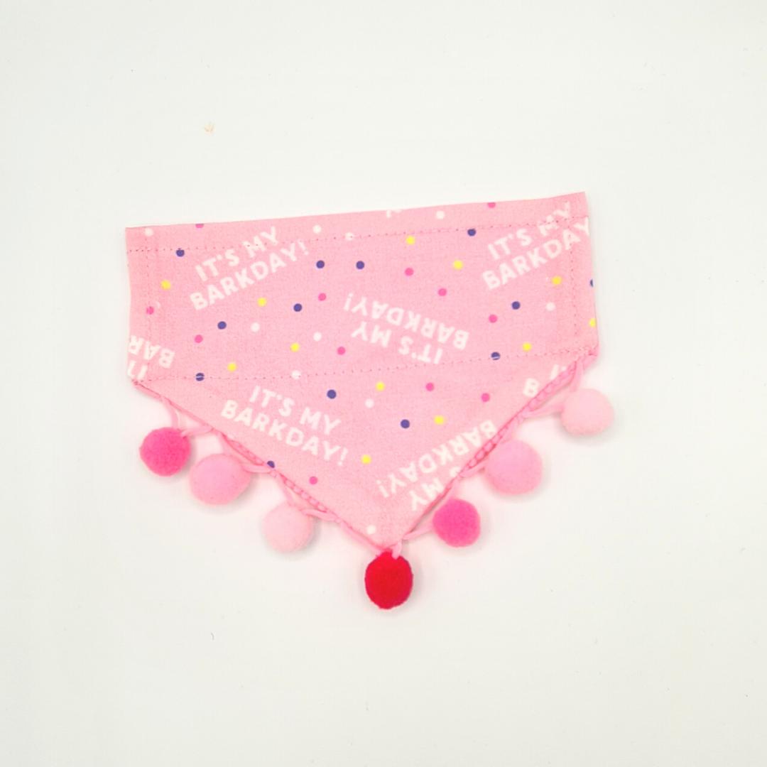 It's my barkday bandana (pink)
