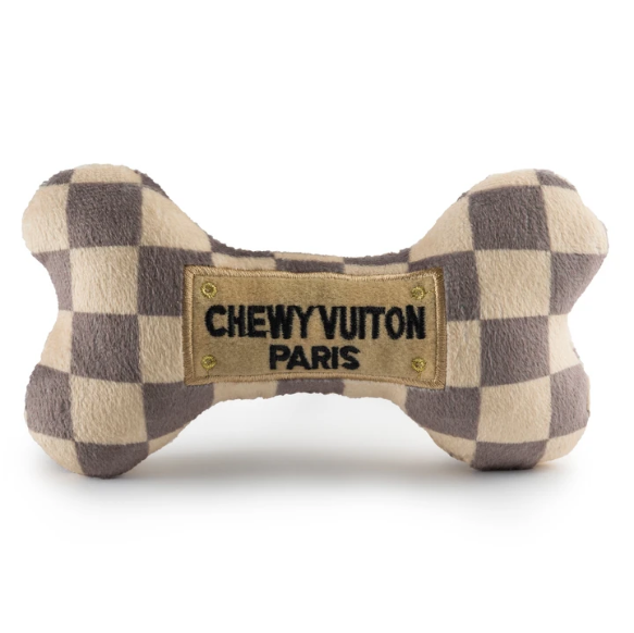 Checker Chewy Vuiton Bones