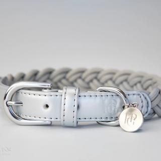 Braided collar in grey