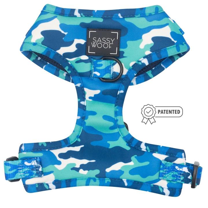Blue Camo adjustable harness