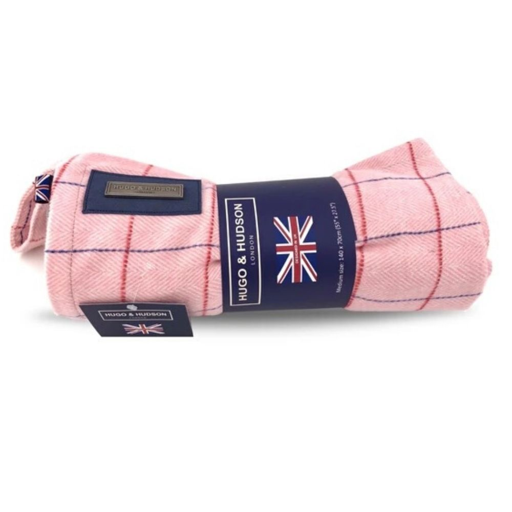 Tweed pink blanket