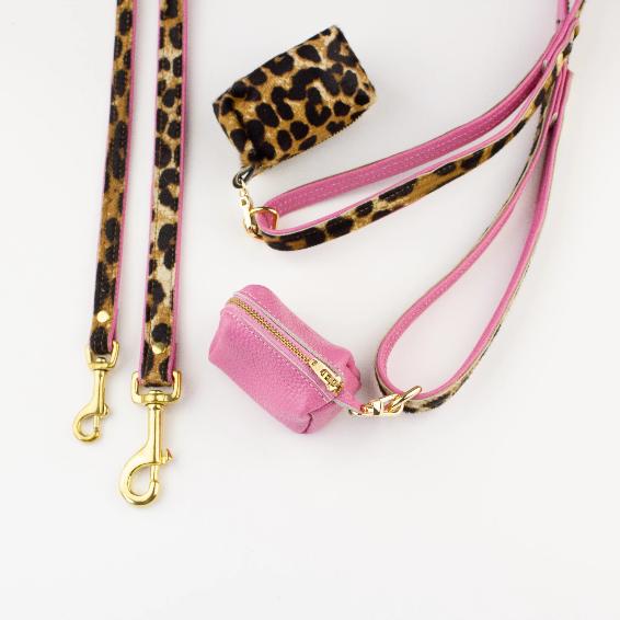 Leopard print poo bag holder