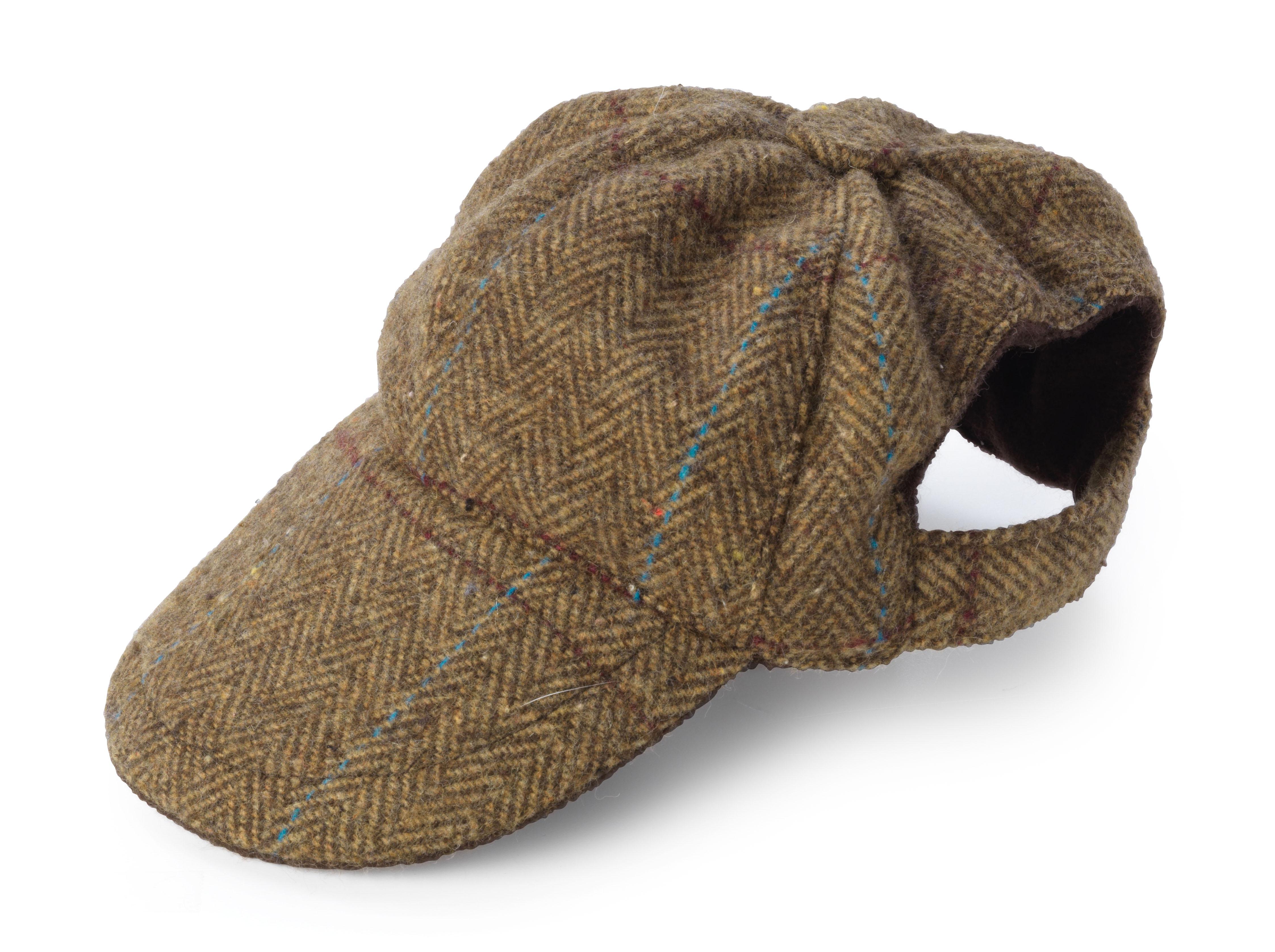 Tweed dog hat