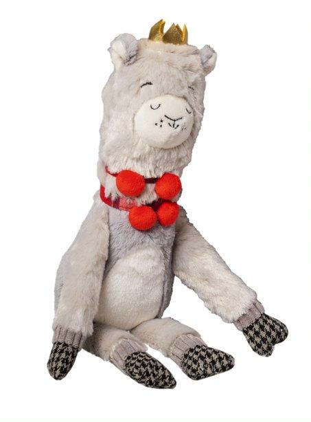 Festive plush llama