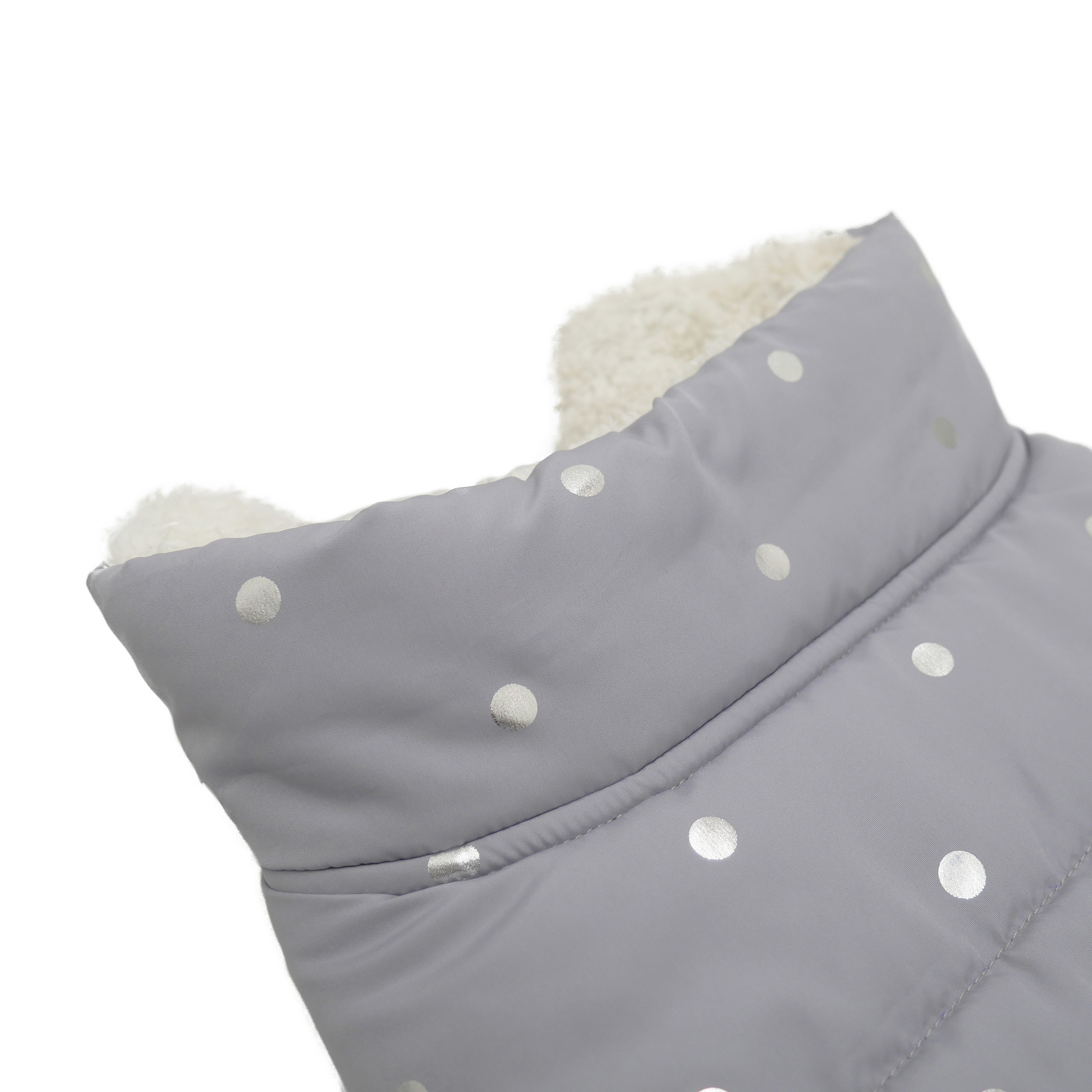 Grey Metallic Spot Gilet