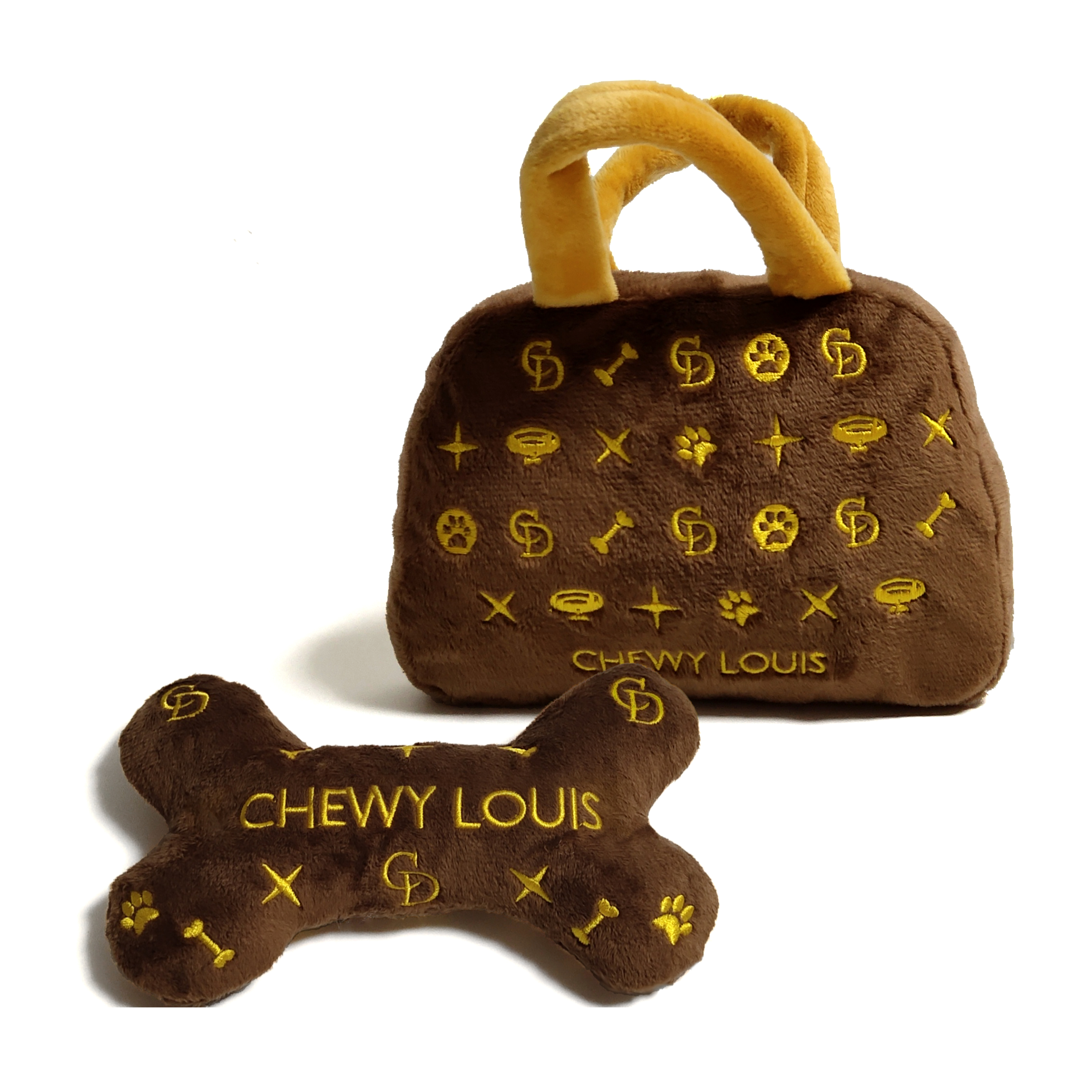 Chewy bag and bone toy bundle