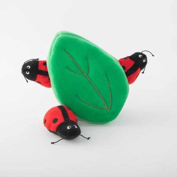 Ladybirds in leaf burrows toy