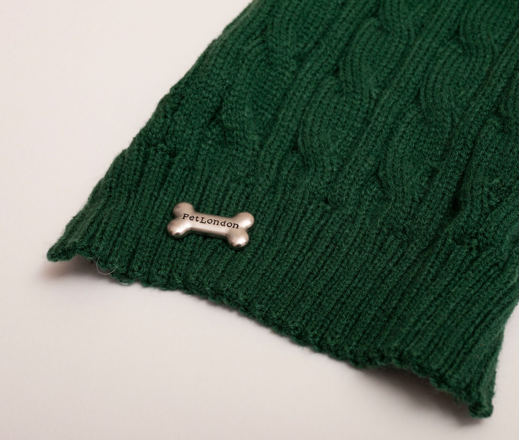 Bottle green Cable Knit Jumper