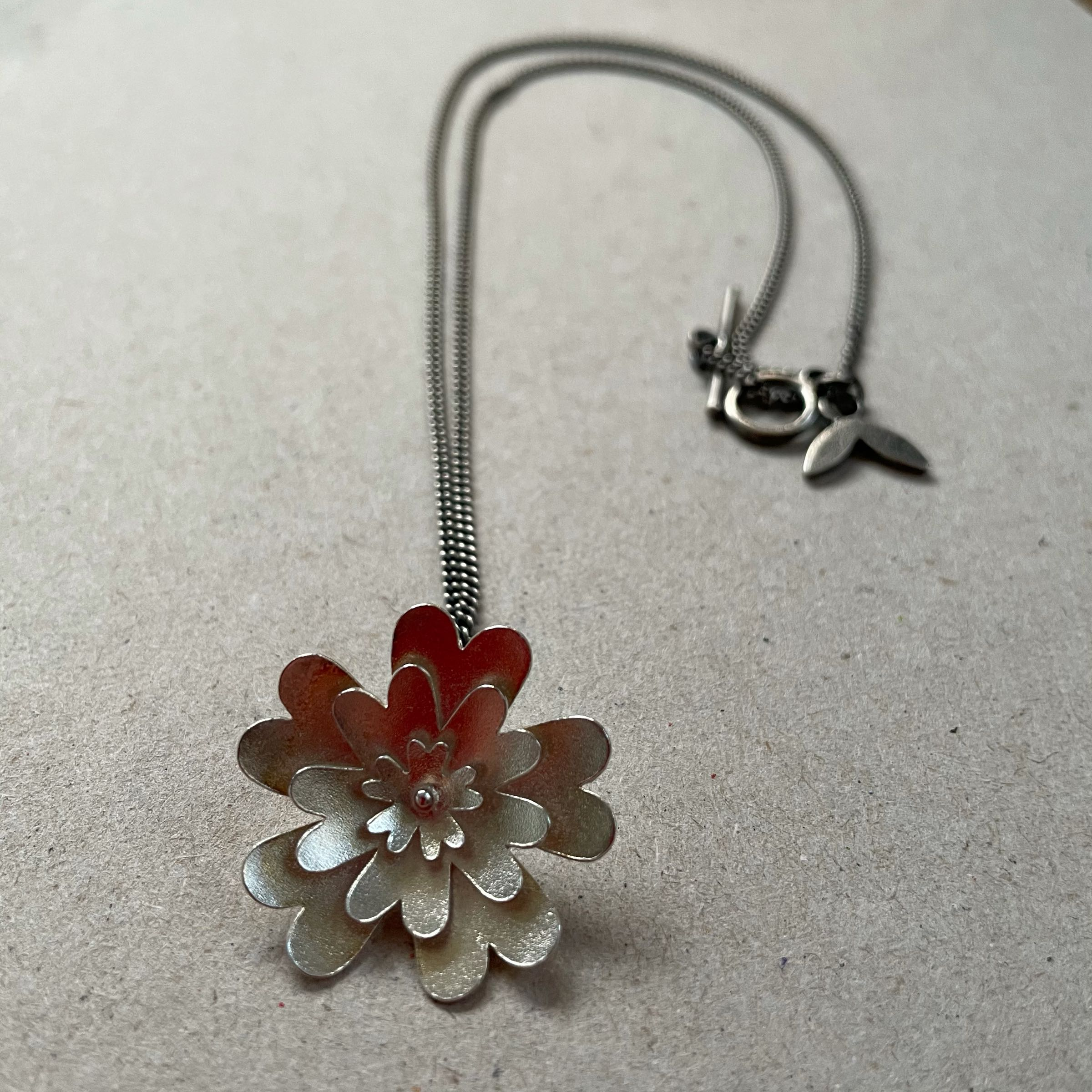 Verbena Bloom silver necklace by Suzanne Potter