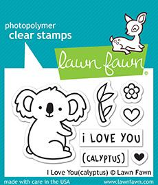 Lawn Fawn Clear Stamps / Klar Stempler - I Love You (Calyptus)