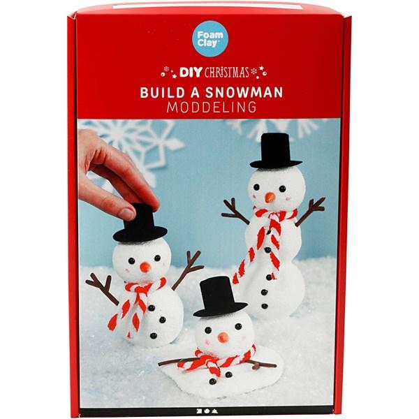 DIY Christmas - Bygg en snømann, modellering, 1sett