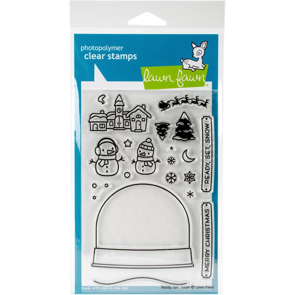 Lawn Fawn Clear Stamps / Klar Stempler - Ready Set Snow