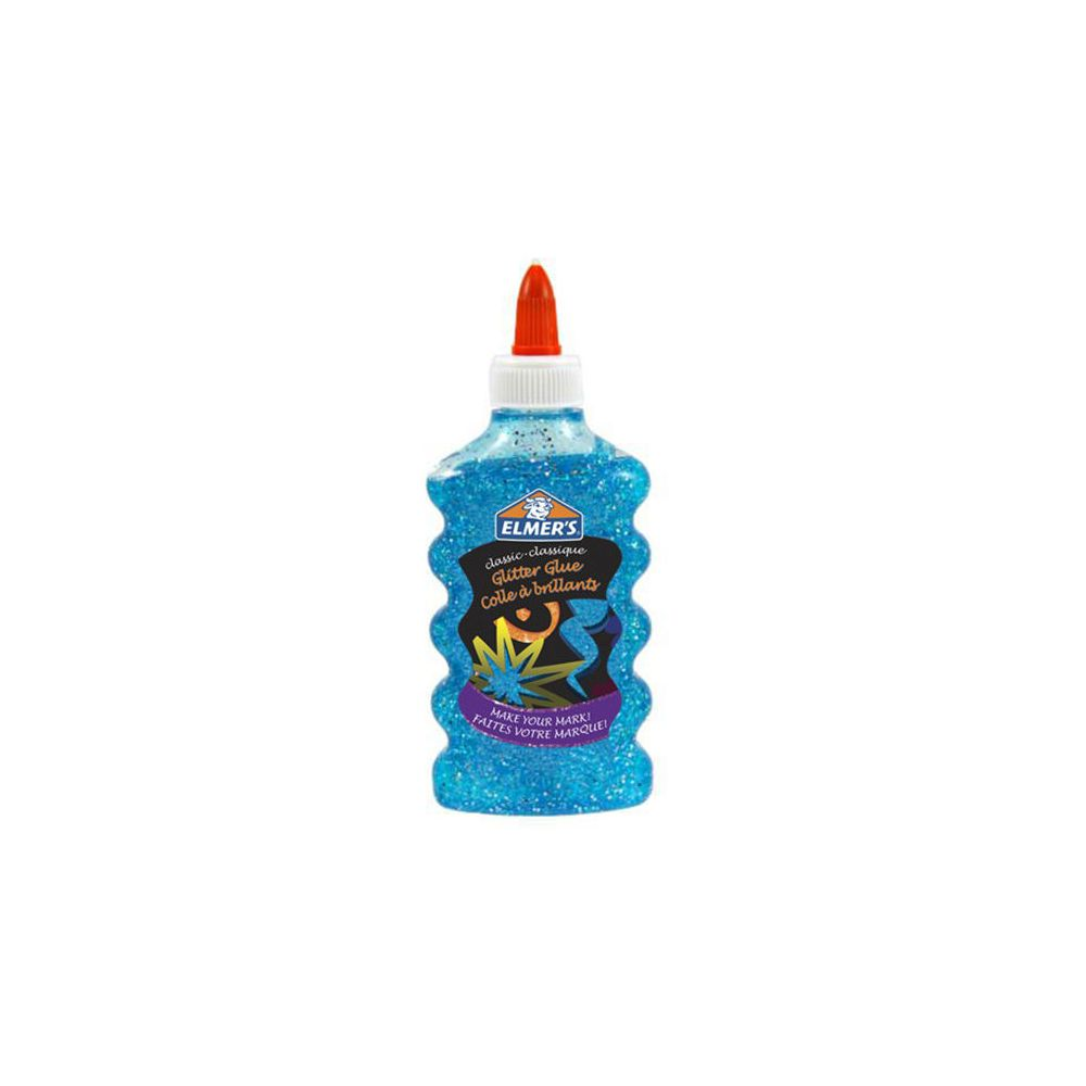 ELMER'S - Glitter Glue/lim 177 ml - blue/blå