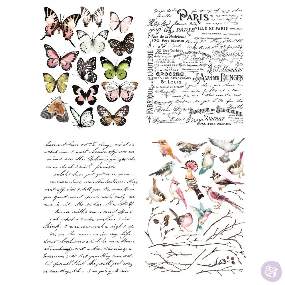 Re-Design with Prima Decor Transfer - Parisian Butterflies OUT OF STOCK