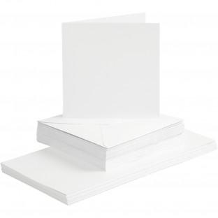5 Kort & Konvolutter / Cards & Envelopes (15x15cm / 6
