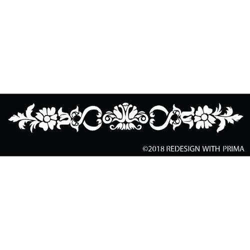 Re-Design with Prima Silk Screen Stencil - Olevia Border 12