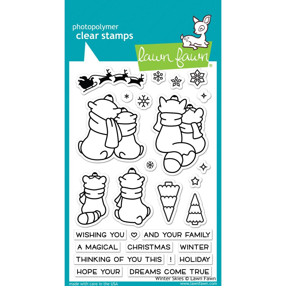 Lawn Fawn Clear Stamps / Klar Stempler - Winter Skies