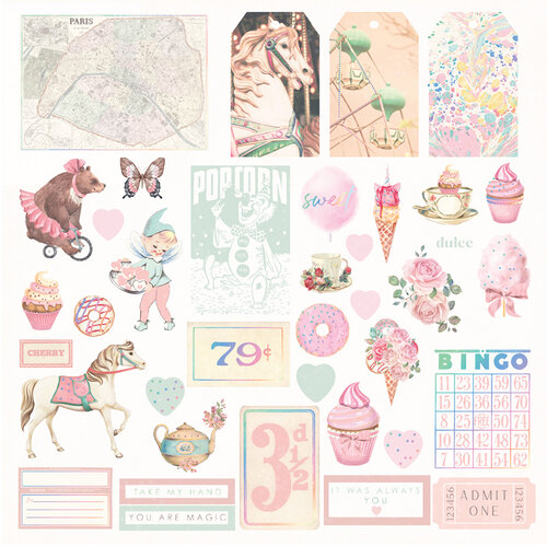 Prima Marketing - Dulce Collection - Ephemera with Foil Accents #995713