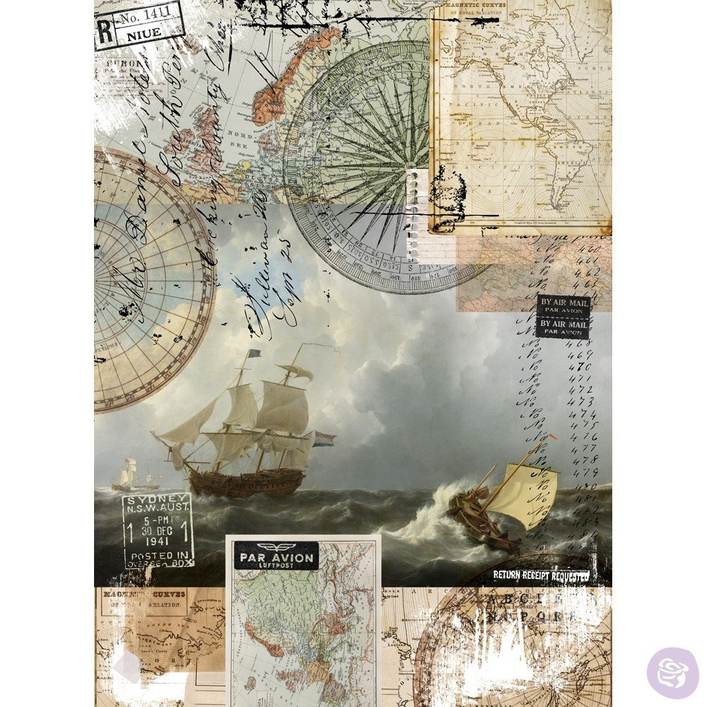 Re-Design with Prima Decor Transfer - On A Voyage