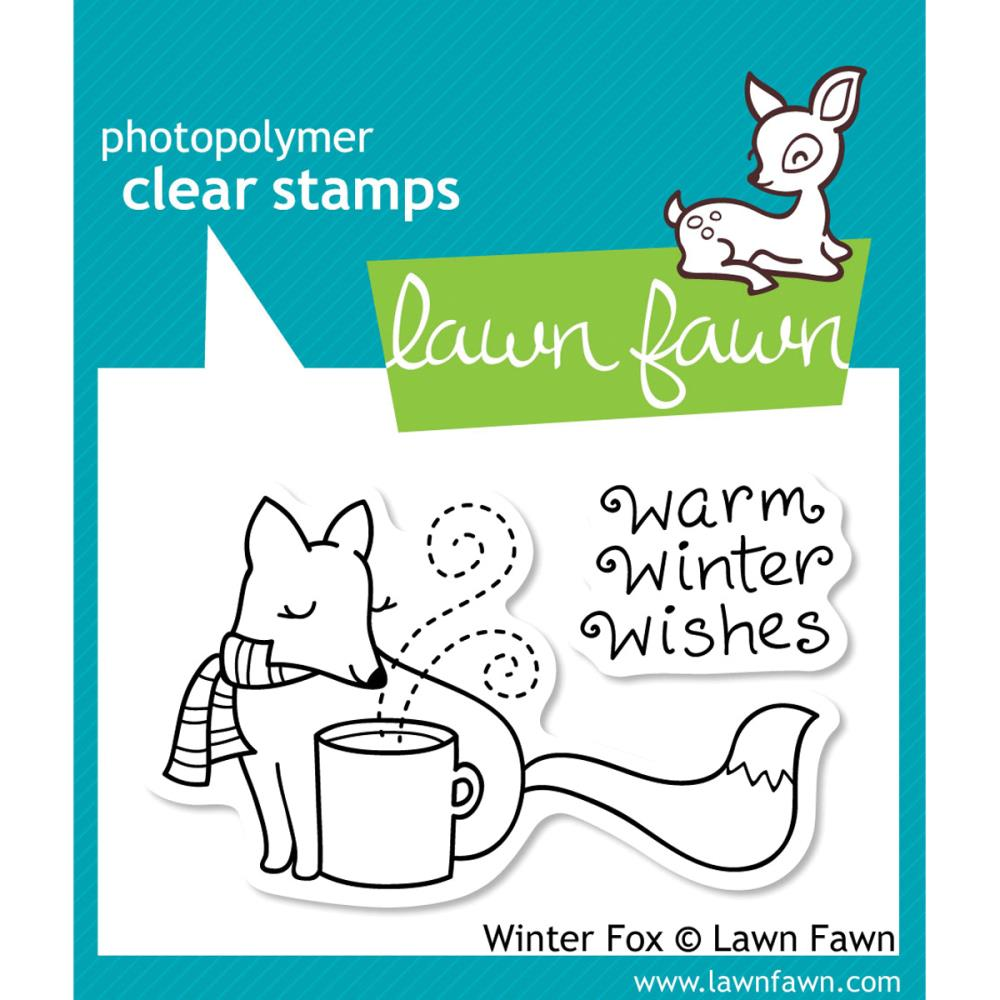 Lawn Fawn Clear Stamps / Klar Stempler - Winter Fox