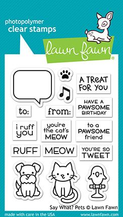 Lawn Fawn Clear Stamps / Klar Stempler - Say What? Pets