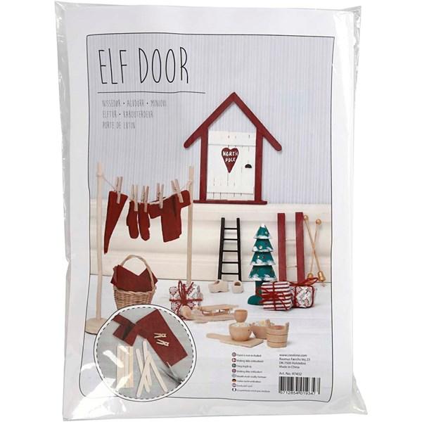 DIY Christmas - ELF DOOR Nissedør, 1 sett