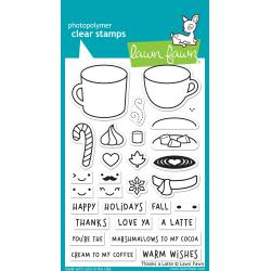 Lawn Fawn Clear Stamps / Klar Stempler - Thanks A Latte