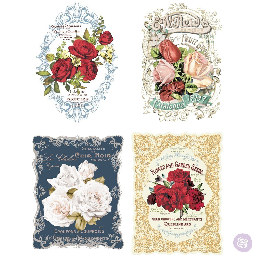 Re-Design with Prima Decor Transfer - Wild Roses