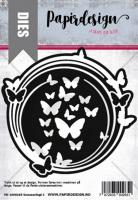 Papirdesign - Dies - Sommerfugl ramme 2