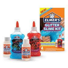 Elmer's - Slime Kit (GLITTER) -  Alt du trenger til å lage slim (her slipper du barberskum, linsevann og natron o.l) i rødt og blått.