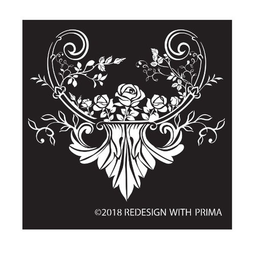 Re-Design with Prima Silk Screen Stencil - Provence Rose 8